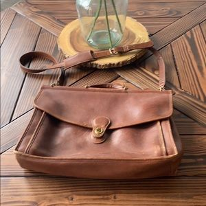 Vintage Coach Leather Laptop/Messenger Bag